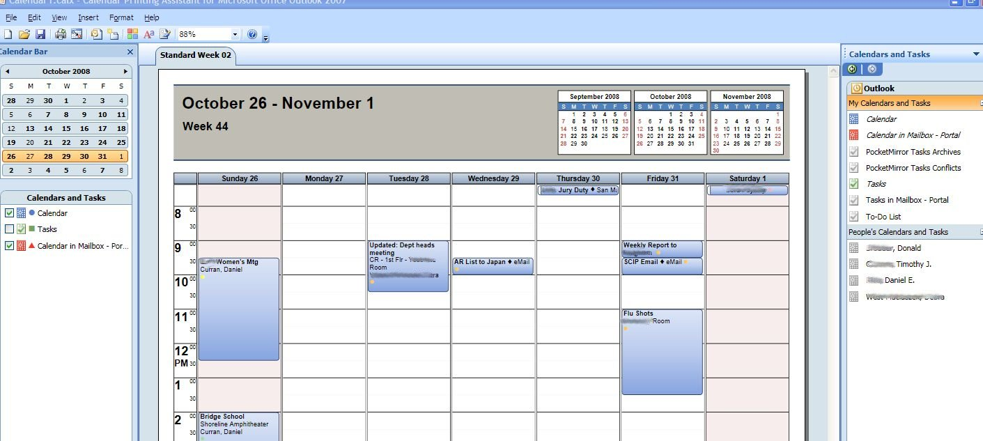 How to print multiple outlook calendars and tasks in for Outlook calendar printing assistant templates