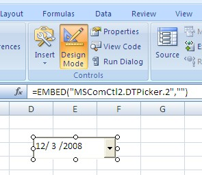 Insert A Drop Down Calendar Menu In Excel Choose A Date Daniel