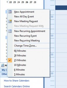 How To Print An Outlook 2007 Calendar With 15 Minute Increments